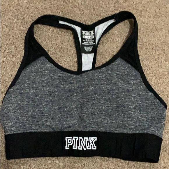 Pink Victoria Secret sports bra (Slightly used)